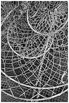 Fishing nets. Homer, Alaska, USA ( black and white)