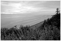 Cook Inlet. Ninilchik, Alaska, USA ( black and white)