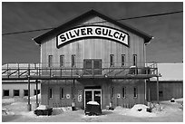 Silver Gulch, northernmost brewery. Fairbanks, Alaska, USA ( black and white)