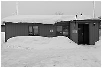Post Office, Coldfoot. Alaska, USA (black and white)
