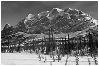Mount Sukakpak in winter. Alaska, USA ( black and white)