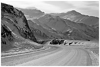 Atigun Pass in winter. Alaska, USA ( black and white)