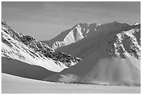Arctic Mountains in winter. Alaska, USA ( black and white)