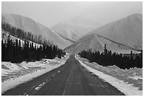 North Slope Haul Road. Alaska, USA ( black and white)