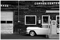 Gas station at Copper Center. Alaska, USA ( black and white)