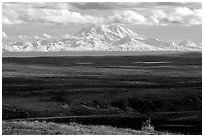 Wrangell Range. Alaska, USA ( black and white)