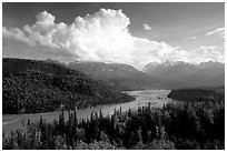 Matanuska River Valley. Alaska, USA (black and white)