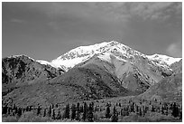 Mineralized Sheep Mountain in the Talkeetna Range. Alaska, USA ( black and white)
