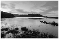 Humbolt Lagoon, sunrise. California, USA ( black and white)