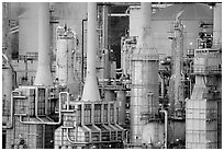 Rodeo San Francisco Refinery. San Pablo Bay, California, USA ( black and white)