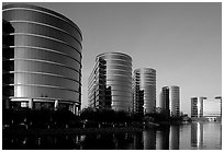 Oracle Headquarters late afternoon. Redwood City,  California, USA (black and white)
