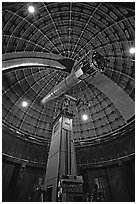 Telescope and Dome, Lick Observatory. San Jose, California, USA ( black and white)