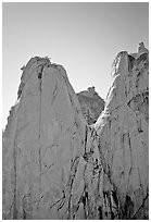 Granite spires, the Needles,  Giant Sequoia National Monument. California, USA ( black and white)