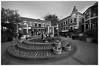 Ghirardelli Square at dusk. San Francisco, California, USA (black and white)