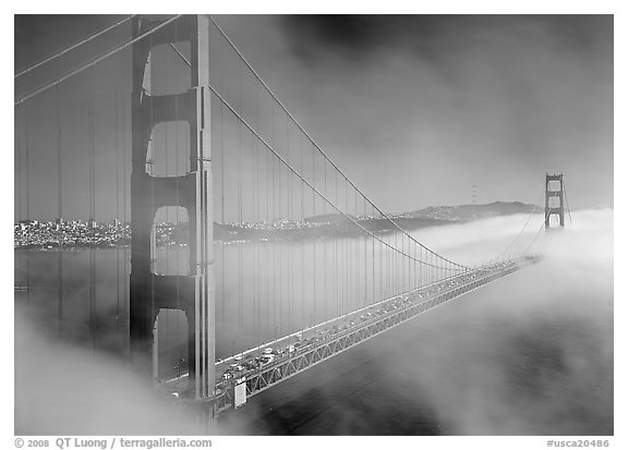 Golden Gate Bridge Pictures Golden Gate Bridge in Fog Seen