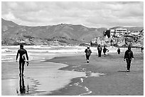 Beach near the Cliff House. San Francisco, California, USA ( black and white)