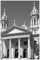 Saint Joseph Cathedral. San Jose, California, USA (black and white)