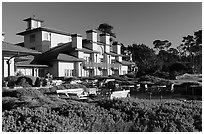 Spanish Bay Inn, Pebble Beach. Pebble Beach, California, USA ( black and white)