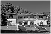 Villa Montalvo. Saragota,  California, USA (black and white)