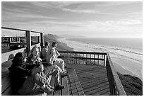 Observation platform at Fort Funston overlooking the Pacific. San Francisco, California, USA (black and white)