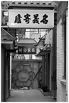 Narrow alley in Chinatown. San Francisco, California, USA ( black and white)