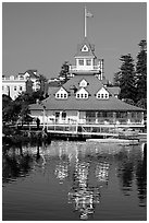 Boathouse restaurant, Coronado. San Diego, California, USA (black and white)