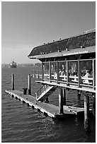 Antony seafood restaurant. San Diego, California, USA (black and white)