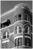 Keating building, Gaslamp quarter. San Diego, California, USA ( black and white)