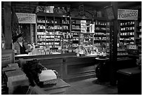 Tobacco shop, Old Town. San Diego, California, USA ( black and white)