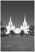 Church of Jesus-Christ of Latter-Day Saints, San Diego California temple. San Diego, California, USA (black and white)