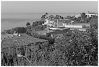 Hillside Houses overlooking the Pacific. Laguna Beach, Orange County, California, USA ( black and white)