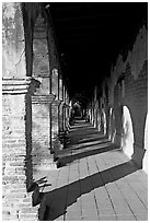 Corridor. San Juan Capistrano, Orange County, California, USA ( black and white)