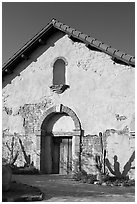 Soldiers barracks. San Juan Capistrano, Orange County, California, USA ( black and white)