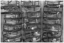 Crab traps. Morro Bay, USA (black and white)