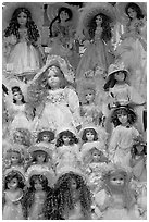 Danish dolls at Andersen gift shop. California, USA ( black and white)