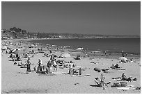 Beachgoers, Capitola. Capitola, California, USA (black and white)