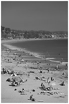 New Brighton State Beach, Capitola. Capitola, California, USA ( black and white)