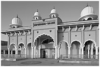 Sikh Gurdwara Temple, afternoon. San Jose, California, USA (black and white)