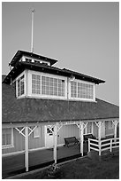 South Bay Yacht club at dusk, Alviso. San Jose, California, USA ( black and white)