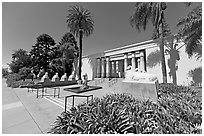 Rosicrucian Museum. San Jose, California, USA ( black and white)