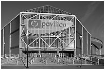 HP Pavilion, afternoon. San Jose, California, USA (black and white)