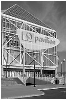 HP Pavilion (former Arena). San Jose, California, USA (black and white)