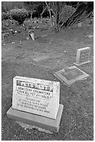 Pet cemetery, Colma. California, USA (black and white)