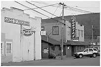 Main street, Pescadero. San Mateo County, California, USA ( black and white)
