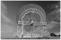 150ft parabolic reflector operated by SRI International. Stanford University, California, USA ( black and white)