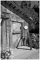 Barn-style shop, Allied Arts Guild. Menlo Park,  California, USA ( black and white)