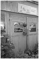 Pottery studio, Allied Arts Guild. Menlo Park,  California, USA (black and white)