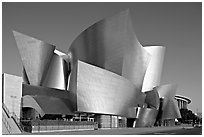 Walt Disney Concert Hall, early morning. Los Angeles, California, USA (black and white)