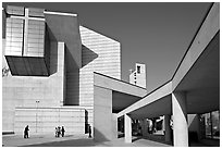 Cathedral of our Lady of the Angels, designed by Jose Rafael Moneo. Los Angeles, California, USA (black and white)
