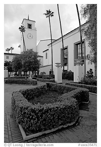 Union Station. Los Angeles, California, USA (black and white)